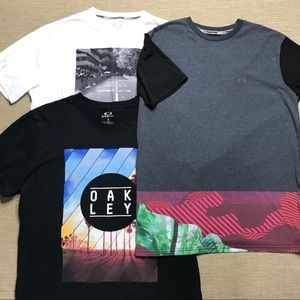 3 NEW Mens Oakley Graphic T-Shirts